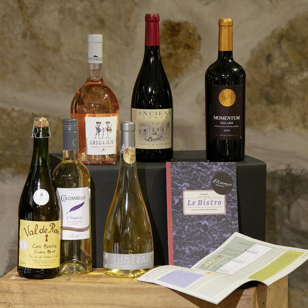 Weinprobe DIY »Le Bistro« Eine Reise durch Frankreichs Süden