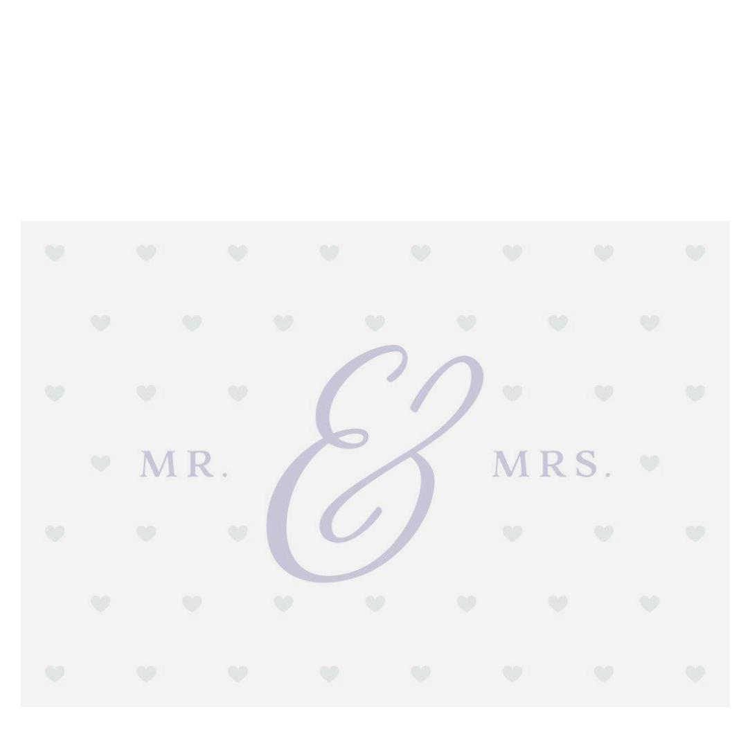 »Mrs. & Mr.« Glückwunschkarte zur Hochzeit