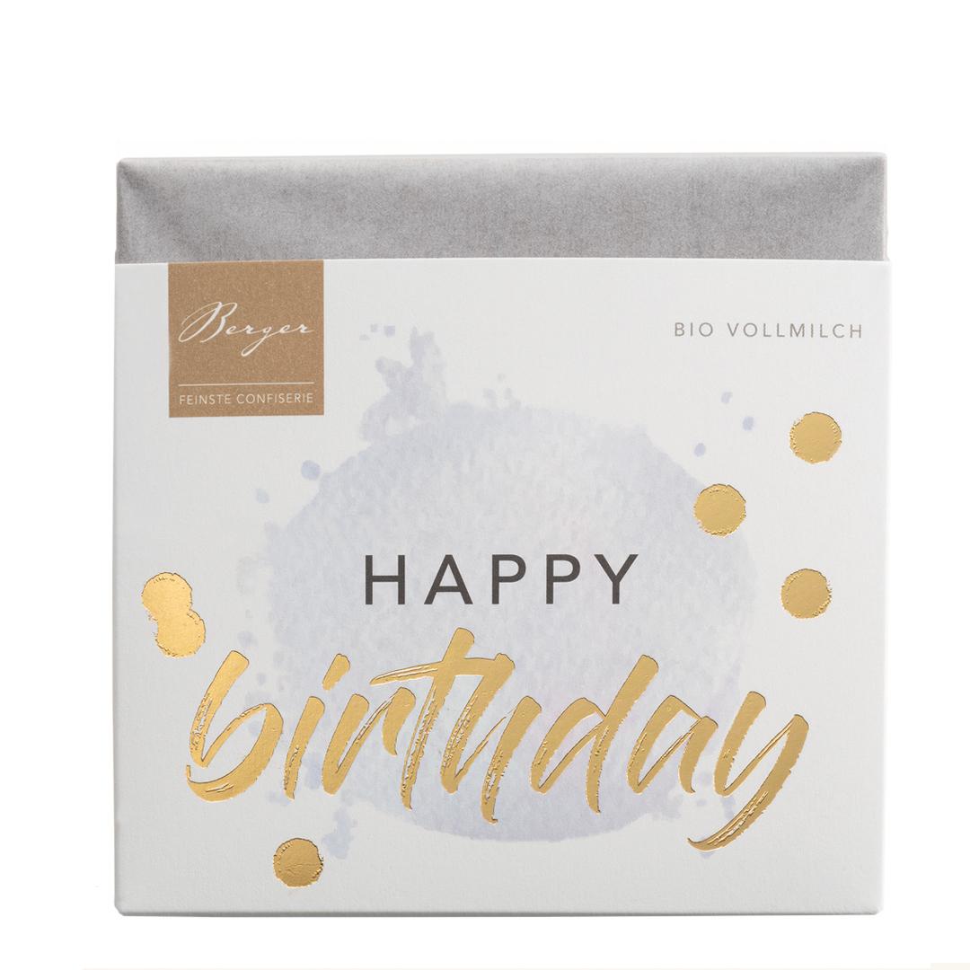 »Happy Birthday« Vollmilchschokolade BIO
