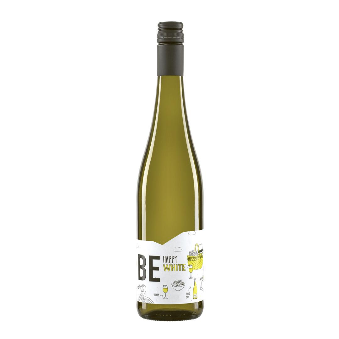 »Be Happy White« Cuvée halbtrocken