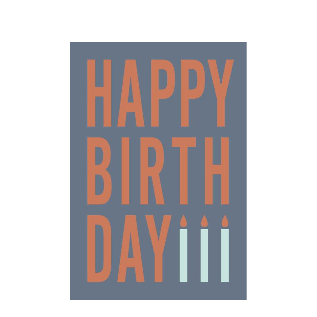 »Happy Birthday« Glückwunschkarte