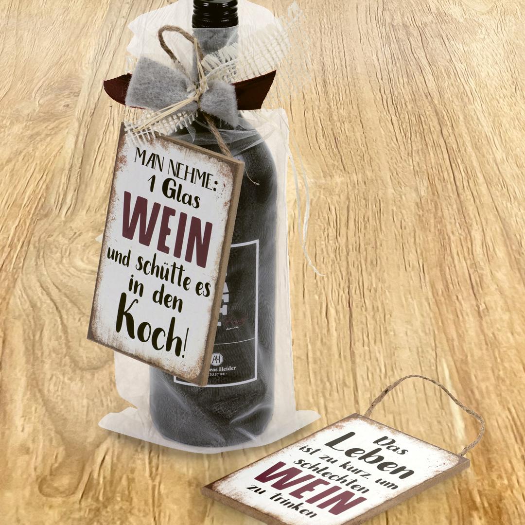 »Man nehme ein Glas Wein und schütte es in den Koch«